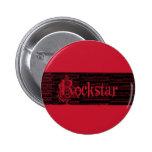 Perno del rojo de Rockstar Pin Redondo 5 Cm