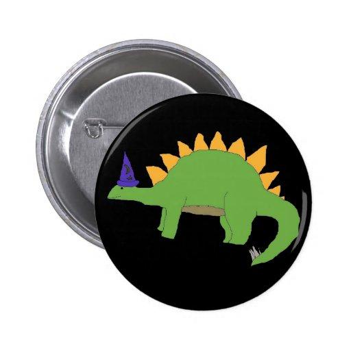 Perno del Stegosaurus del mago Pin Redondo De 2 Pulgadas