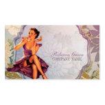 perno del vintage encima del artista de maquillaje tarjetas de visita