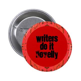 Perno divertido de los escritores pin redondo de 2 pulgadas