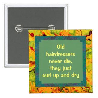 perno divertido de los peluqueros pin cuadrado
