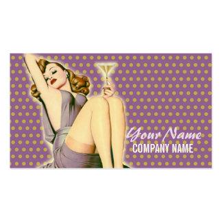 perno encima de la belleza del vintage del tarjetas de visita