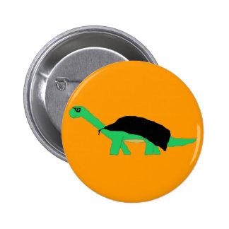 Perno enmascarado del Apatosaurus de Caped Pin Redondo De 2 Pulgadas