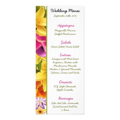 Perno exótico colorido hawaiano de 25 del menú flo plantillas de lonas