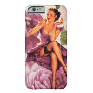 perno femenino moderno del vintage encima de funda para iPhone 6 barely there