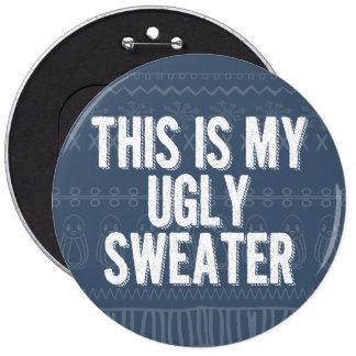 Perno feo del fiesta del suéter del navidad pin redondo 15 cm