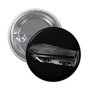 Perno gótico del botón del gótico del ataúd pin redondo de 1 pulgada
