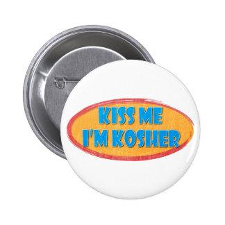 Perno kosher del botón del humor pin redondo de 2 pulgadas