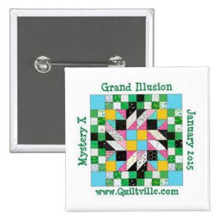 Perno magnífico de la ilusión pin cuadrado
