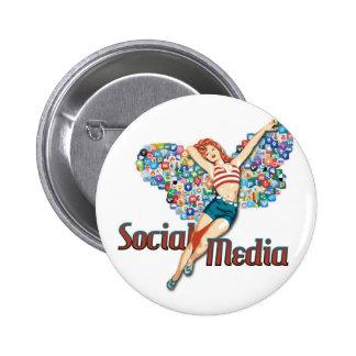 Perno-para arriba social de la hada de los medios pin