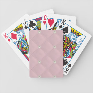 Perno prisionero de la perla de los rosas bebés barajas de cartas