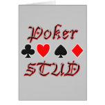 Perno prisionero del póker felicitación