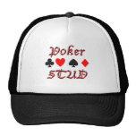 Perno prisionero del póker gorras de camionero