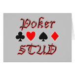 Perno prisionero del póker tarjeta de felicitación
