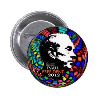 Perno psicodélico 2012 de Ron Paul Pin Redondo De 2 Pulgadas