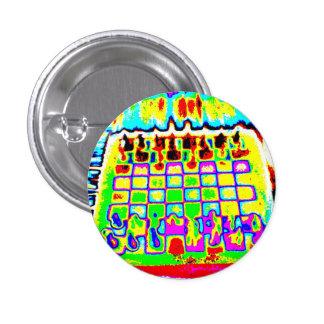 perno psicodélico del tablero de ajedrez del color pin redondo 2,5 cm