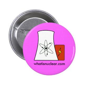 perno rosado de Whatisnuclear.com Pin Redondo De 2 Pulgadas