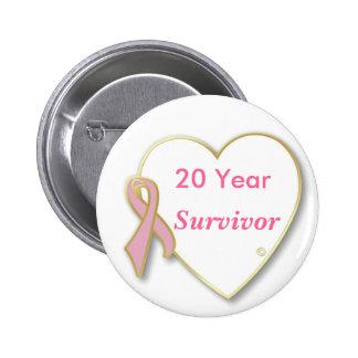 perno rosado del superviviente de la cinta de 20 a pin redondo 5 cm