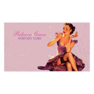 perno rosado elegante encima del artista de tarjetas de visita