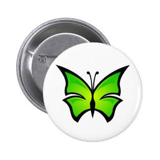 Perno verde claro de la mariposa pin