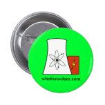 perno verde de Whatisnuclear.com Pin