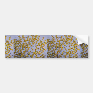 Pernos amarillos del empuje en blanco pegatina de parachoque