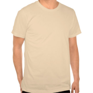 Pernos amarillos del empuje en blanco camiseta