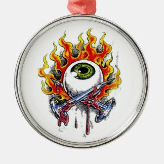 Pernos ardientes del globo del ojo del dibujo anim ornamento para reyes magos