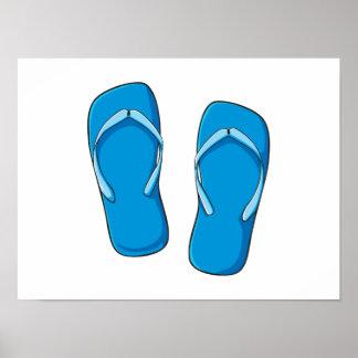 Pernos azules de encargo de las tarjetas de poster