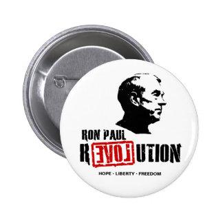 Pernos/botones de la revolución de Ron Paul Pin Redondo 5 Cm
