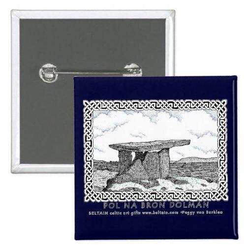 Pernos célticos y diseño céltico del dolmán de los pin cuadrada 5 cm