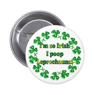 Pernos chistosos irlandeses de los botones del día pins