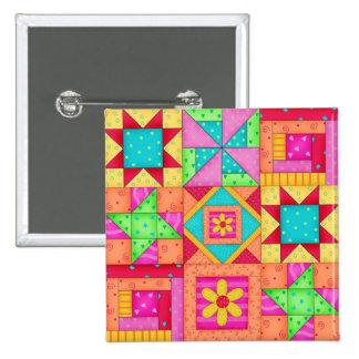 Pernos coloridos del arte del bloque del edredón pin cuadrada 5 cm