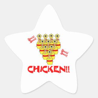 pernos de bolos asustados divertidos del pollo del calcomanías forma de estrellaes personalizadas