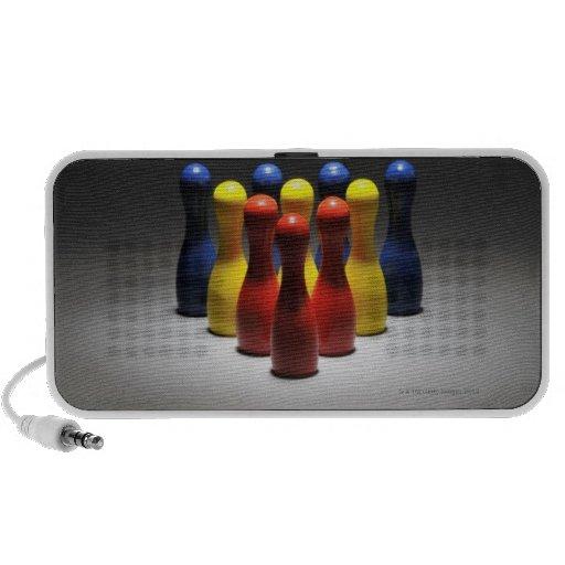 Pernos de bolos de madera iPod altavoz