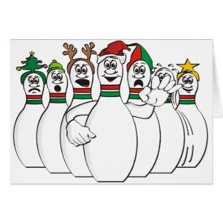 Pernos de bolos del navidad tarjeta de felicitación