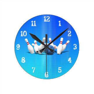 Pernos de bolos: Reloj de pared