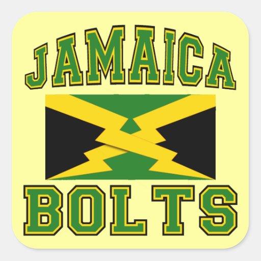 Pernos de Jamaica Pegatina Cuadrada