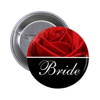 Pernos de la designación del boda de la novia pin redondo de 2 pulgadas
