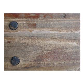 pernos de madera w 2 tarjetas postales