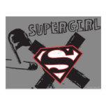 Pernos de seguridad negros de Supergirl Tarjeta Postal