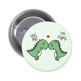 ¡Pernos del amor de Dino! Pin Redondo De 2 Pulgadas