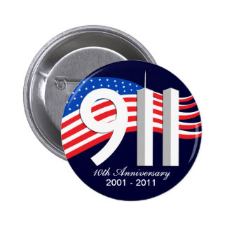 Pernos del aniversario WTC del th del 9 /11 de sep Pin Redondo De 2 Pulgadas