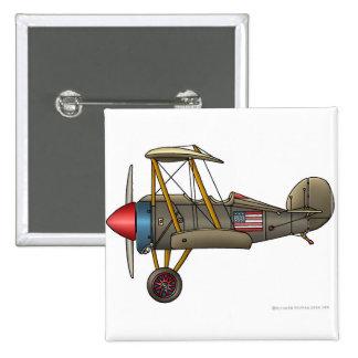 Pernos del biplano del vintage del aeroplano pins