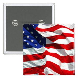 Pernos del botón de la bandera de los E.E.U.U. Pin Cuadrado