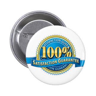 Pernos del botón de la satisfacción garantizada