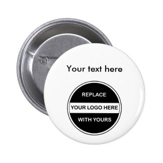 Pernos del botón del logotipo del negocio
