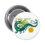 Pernos del dragón del mar profundo (verde) pin
