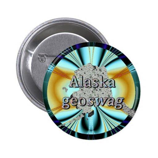 Pernos del tesoro de los regalos de Alaska Geoswag Pins