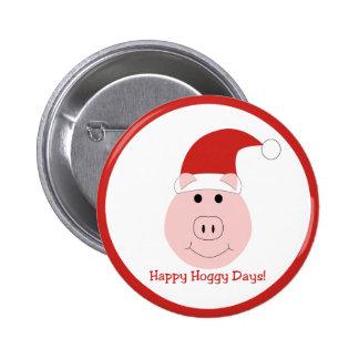 Pernos felices del día de fiesta de los días de Ho Pin Redondo De 2 Pulgadas